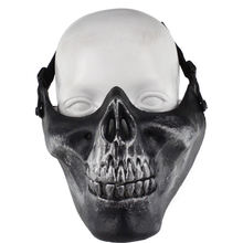 WoSporT Tactical Half Face mask Paintball Skull mask for Hunting Shooting Airsoft Halloween Party