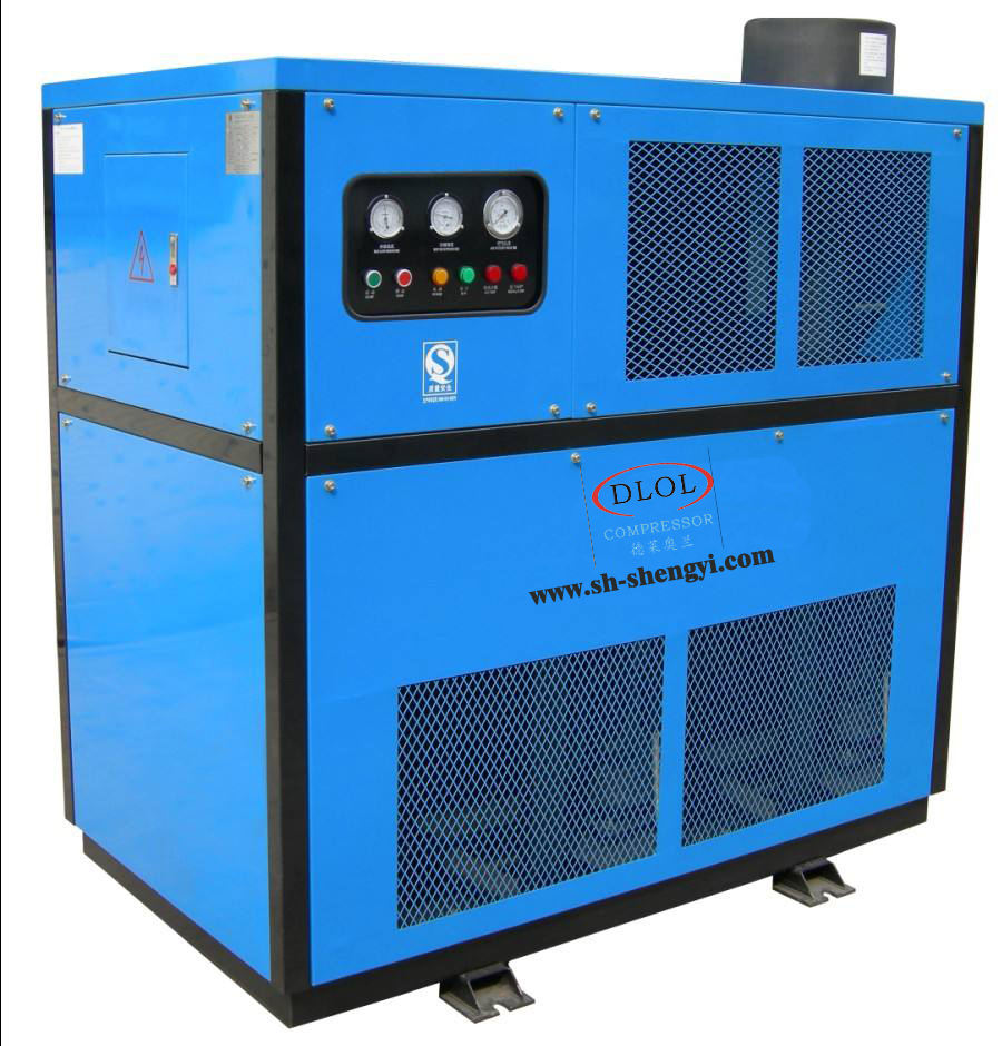 Dental compressed refrigerated air dryer for air compressor