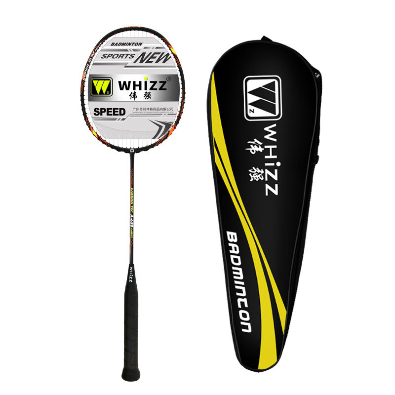 WHIZZ model A630 ultra lightweight 60-65g 100%graphite badminton rackets sets