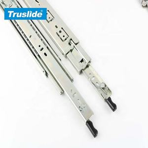 TH1350LK 50mm 68KG Load Rating Three Fold Full Extension Ball Bearing Drawer Slide With Lock