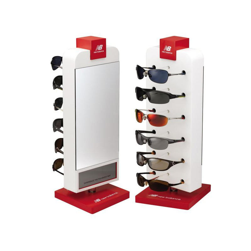 Good Quality Fashion Wooden Retail Display Stand Glasses Modern Mall Sunglass Kiosk Display Ideas Wall Sunglasses Shop Displays