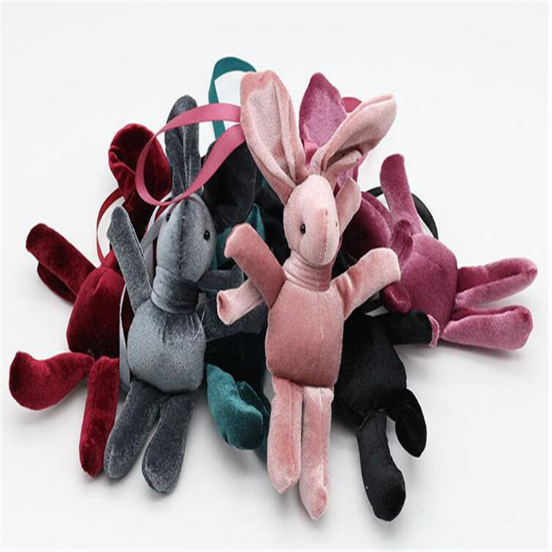 Newest Selling Bouquet Accessories Mini Plush Toy Dolls Velvet Wish Rabbit Plush Toys