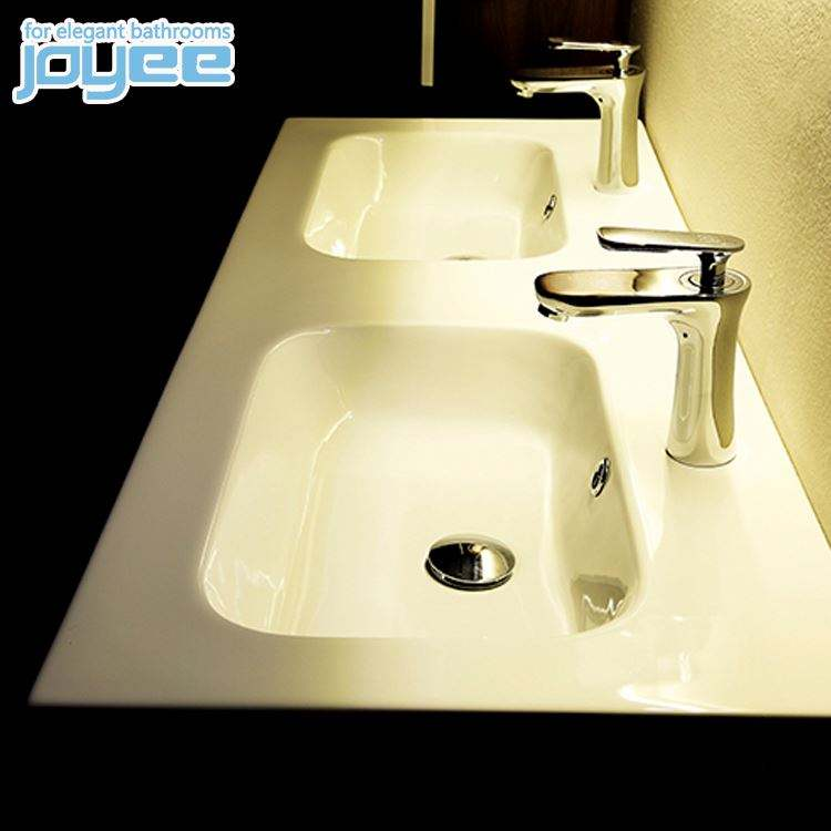 JOYEE New Listing double wash sink wooden cabinet bathrooms With High Popularity