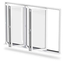Wholesale Aluminium Residential Storefront Accordion Bi-Folding Sliding Window Price In India