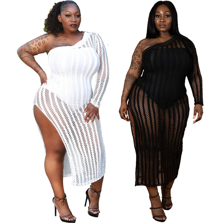 Fat women dresses summer beach cover big size plus size clothing for black women