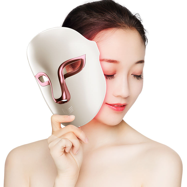 3 color lights led photon anti-aging facial shield skin rejuvenation therapy led face PDT Beauty Mask