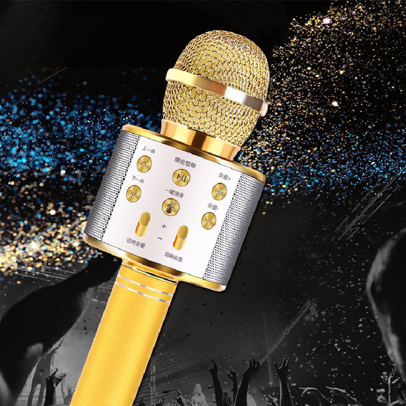 2020 Handheld bluetooth wireless microphone professional Portable Factory wholesale new product For USB for karaoke microphone