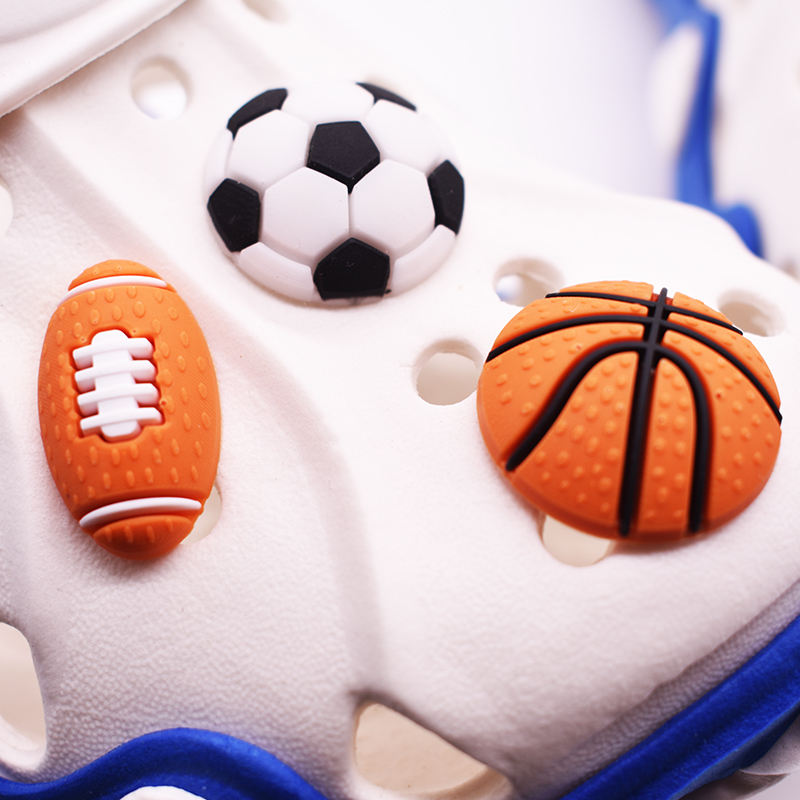 BSD-01 Newest 3D Sports Balls gibet for Clog Shoes Clog Decorations for Shoes