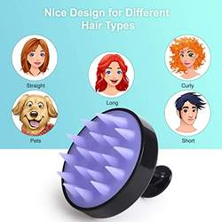 Hair Scalp Massager Shampoo Brush with Soft Silicone Head Massager