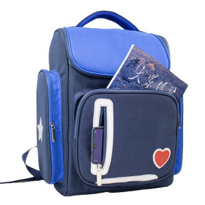 wholesale 2020 trendy blue waterproof girl and boy school student backpack bag