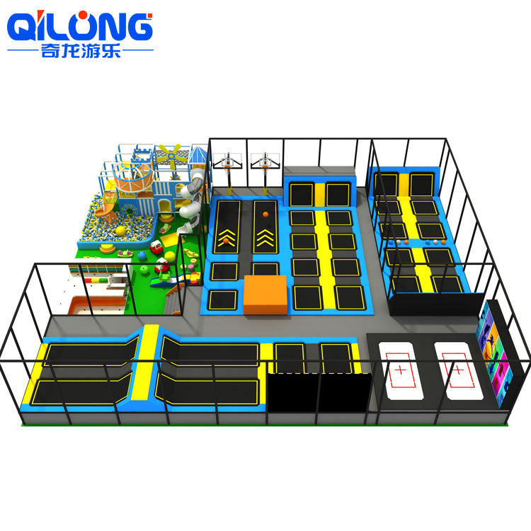 Trampoline Equipment QILONG Good Quality Professional New Design Indoor Trampoline Park Indoor Amusement Equipment