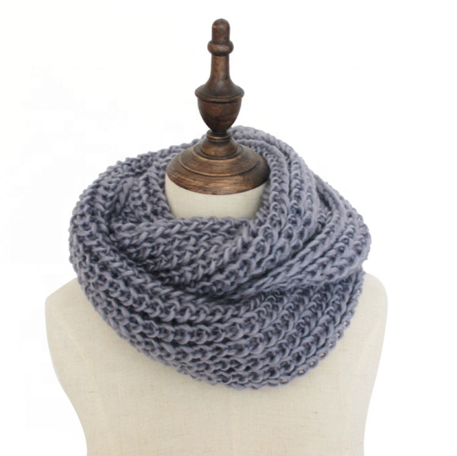 Women's Infinity Scarf Soft Thick Knit Warm Winter Neck Wrap Circle Loop Scarf