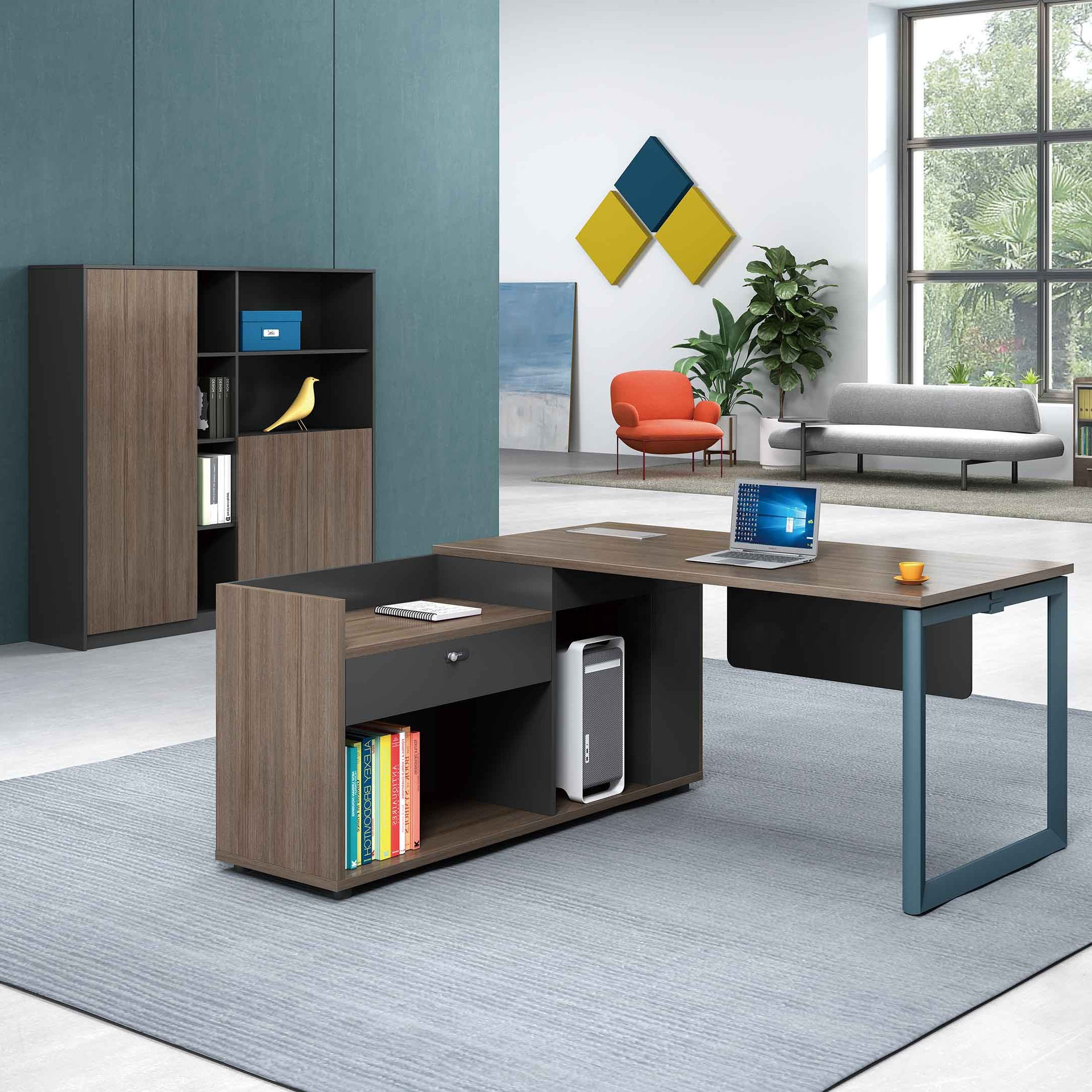 Latest Design Modern Commercial Office Furniture 1600mm Width Melamine Wooden Manager Executive Office Desk