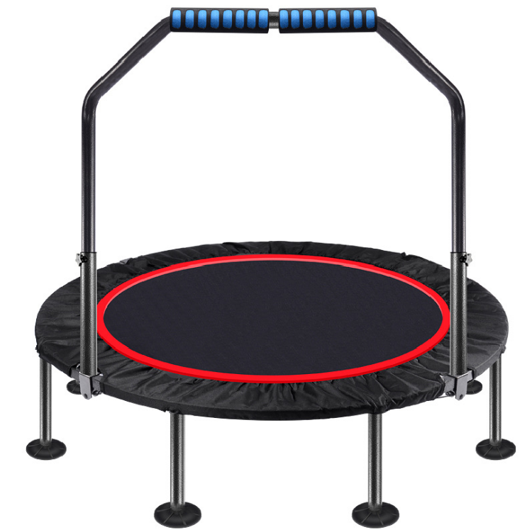 New Style Outdoor Trampoline New factory workout gym home foldable mini trampoline fitness rebounder with adjustable foam handle