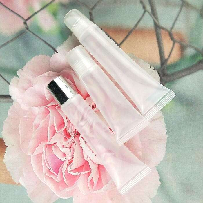 Pink Black Silver Clear cap squeeze lip gloss tube private label 8 ml 10ml 15ml empty lip gloss containers