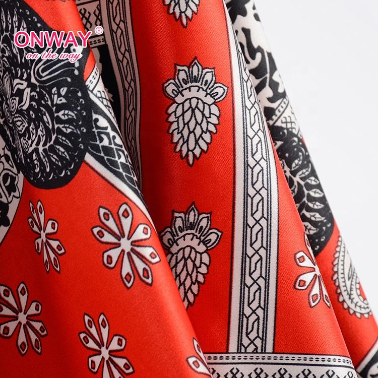 New products women dress dull broken twill printed fabric