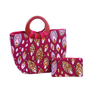 African Fashion Printed Leather Handbags Colorful Peacock Pattern Big Size Bags 2Pcs set for Ladies
