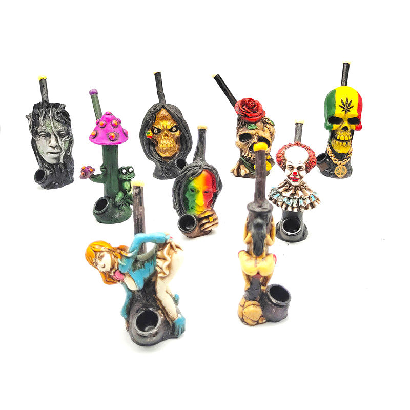 2021 New Coming Resin Cartoon Figurine Shaped Smoking Pipes Dry Herb Tobacco Smoking Pipe