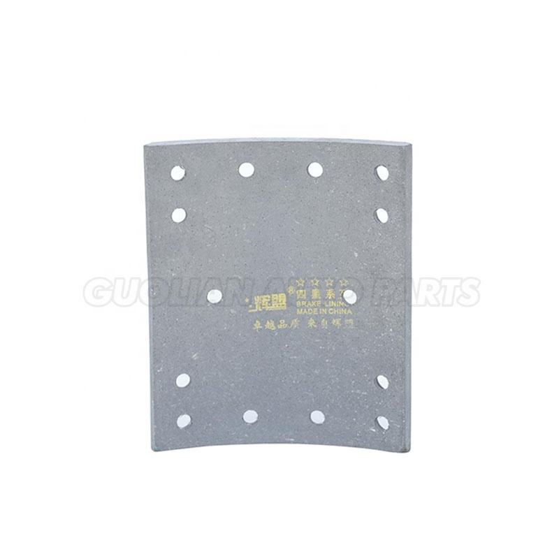 SINOTRUK Rear brake lining HOWO commercial vehicle brake shoe Pad Truck friction material