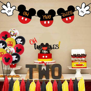Nicro New Product Baby Shower Oh Twodles Cartoon Mouse Birthday Party Supplies Decorations