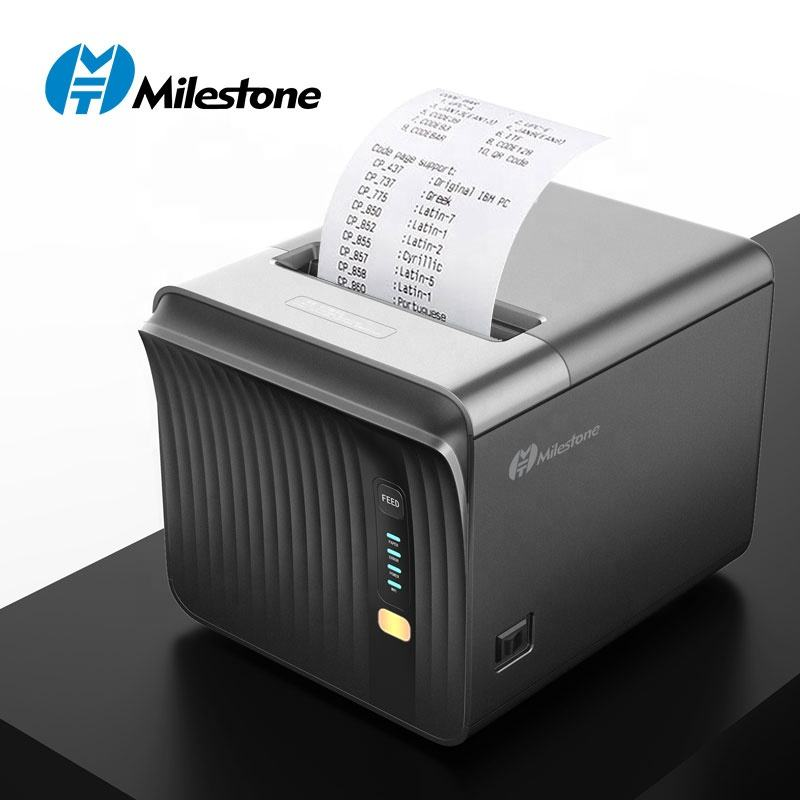 Milestone Printer MHT-P80A Kitchen receipt printer wifi blue tooth com Lan USB ports 250mm/s High speed 80mm pos thermal printer