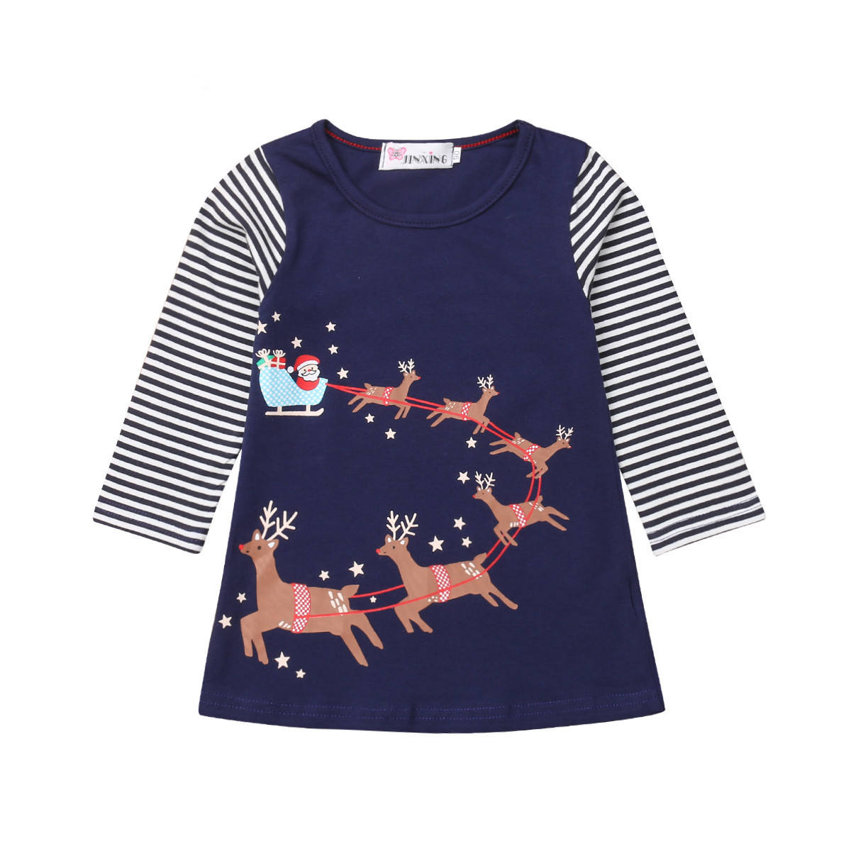 Popular European and American children's clothing wholesale autumn princess dress girl long sleeve printed dress children's clot