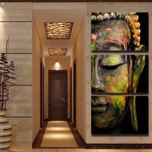 Abstract Buddha Half Face Painting Wall Art Canvas Pictures For Living Room Home Decoration Religious Art Cuadros