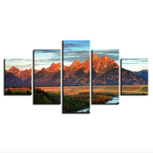 Gallery Wrapped Modern Canvas Print Mountain Landscape Artwork Hotel Decoration Wall Painting