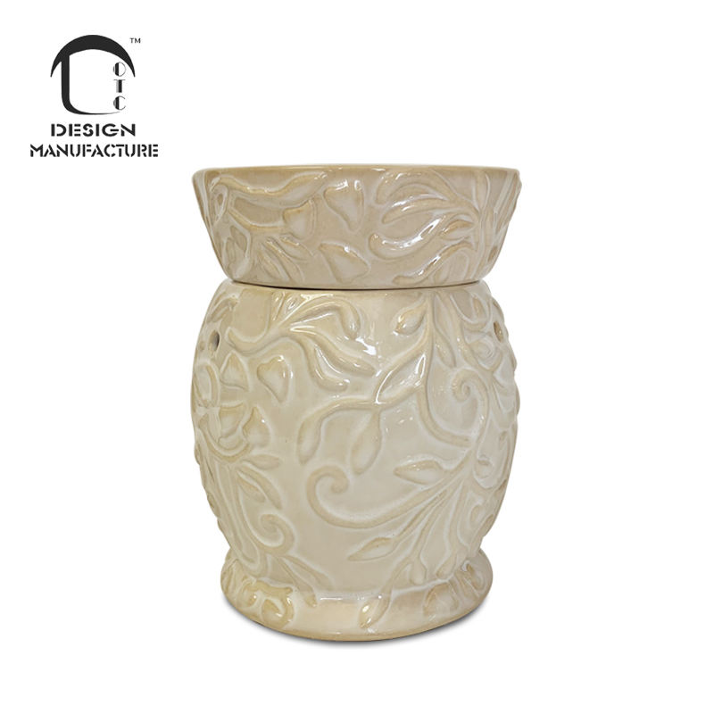 Wholesale low price holiday decor glazed ceramic electric wax tart warmer
