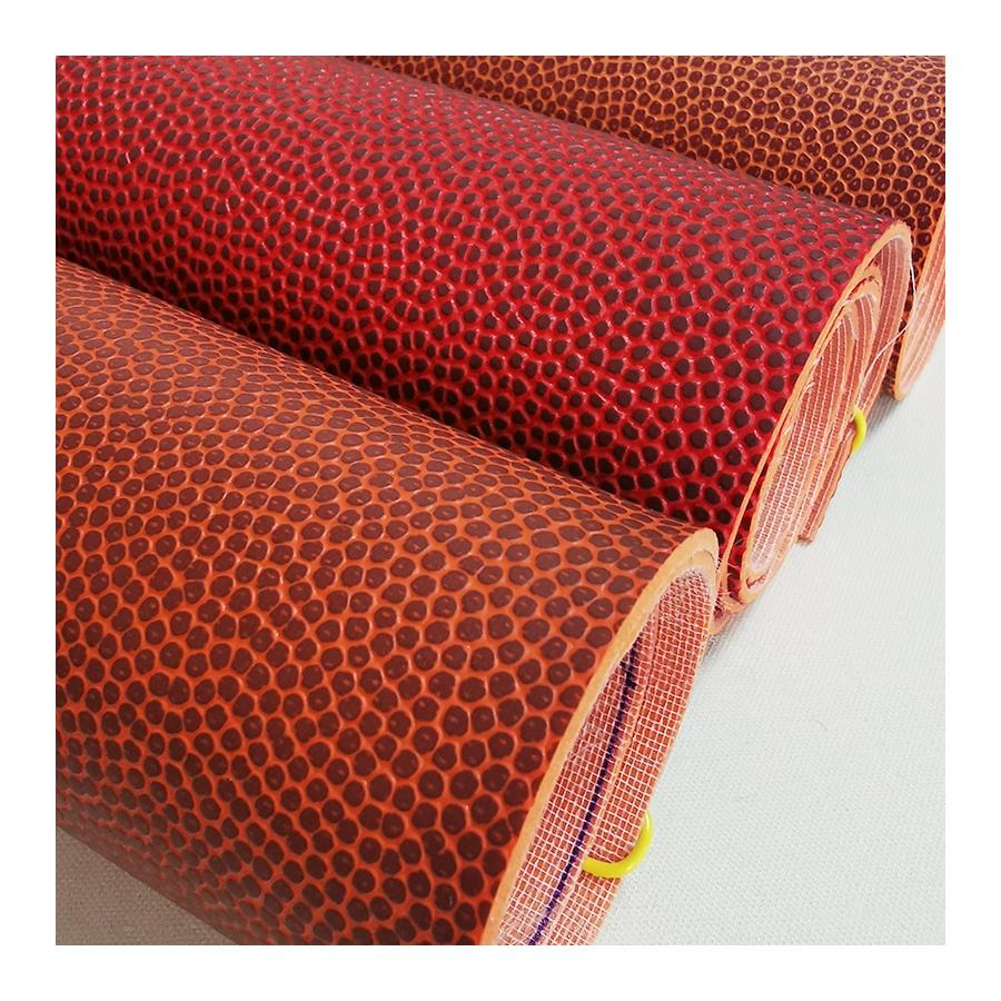 Abrasion resistance pvc leather for basketball leather material custom faux leather