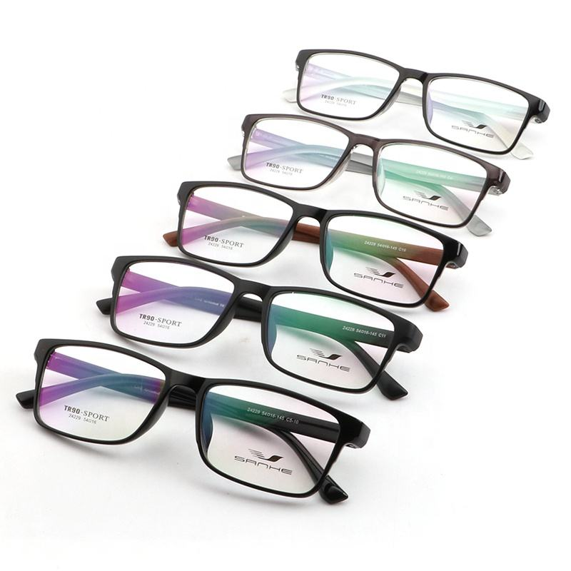High Quality Stock Tr90 Glasses Frame Optical Prescription Fashion Eyeglass Frames