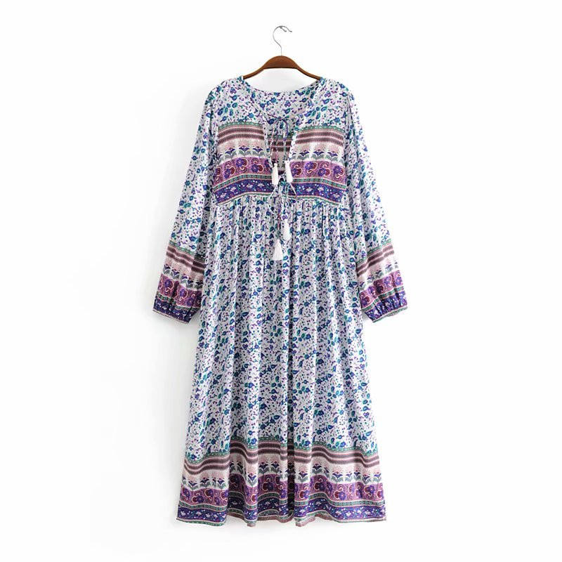 african v neck bohemian long holiday dresses women summer beach oversize Kimono floral printed skirt
