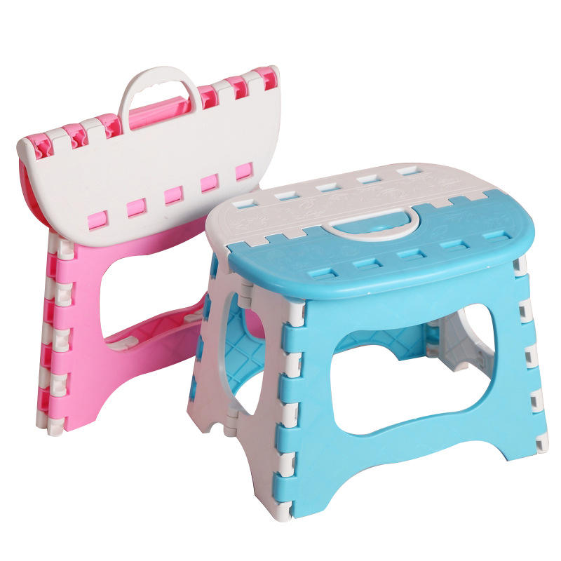 Large thick portable portable plastic folding stool outdoor fishing stool small bench lined stool