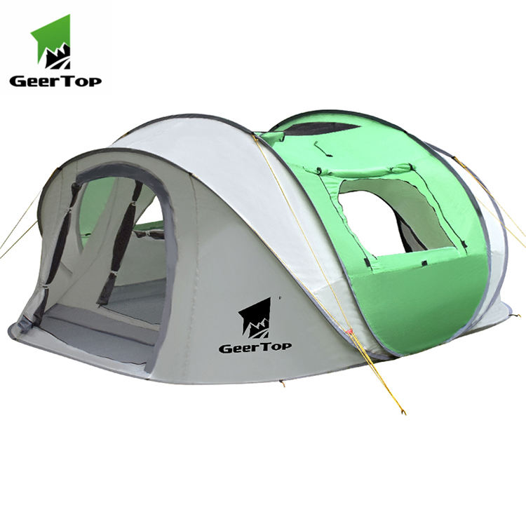 Geertop Ultralight custom logo easy to install outdoor beach camping tent for 4 peasons family