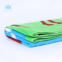 High quality 100% cotton customized design reactive printed travel beach towel