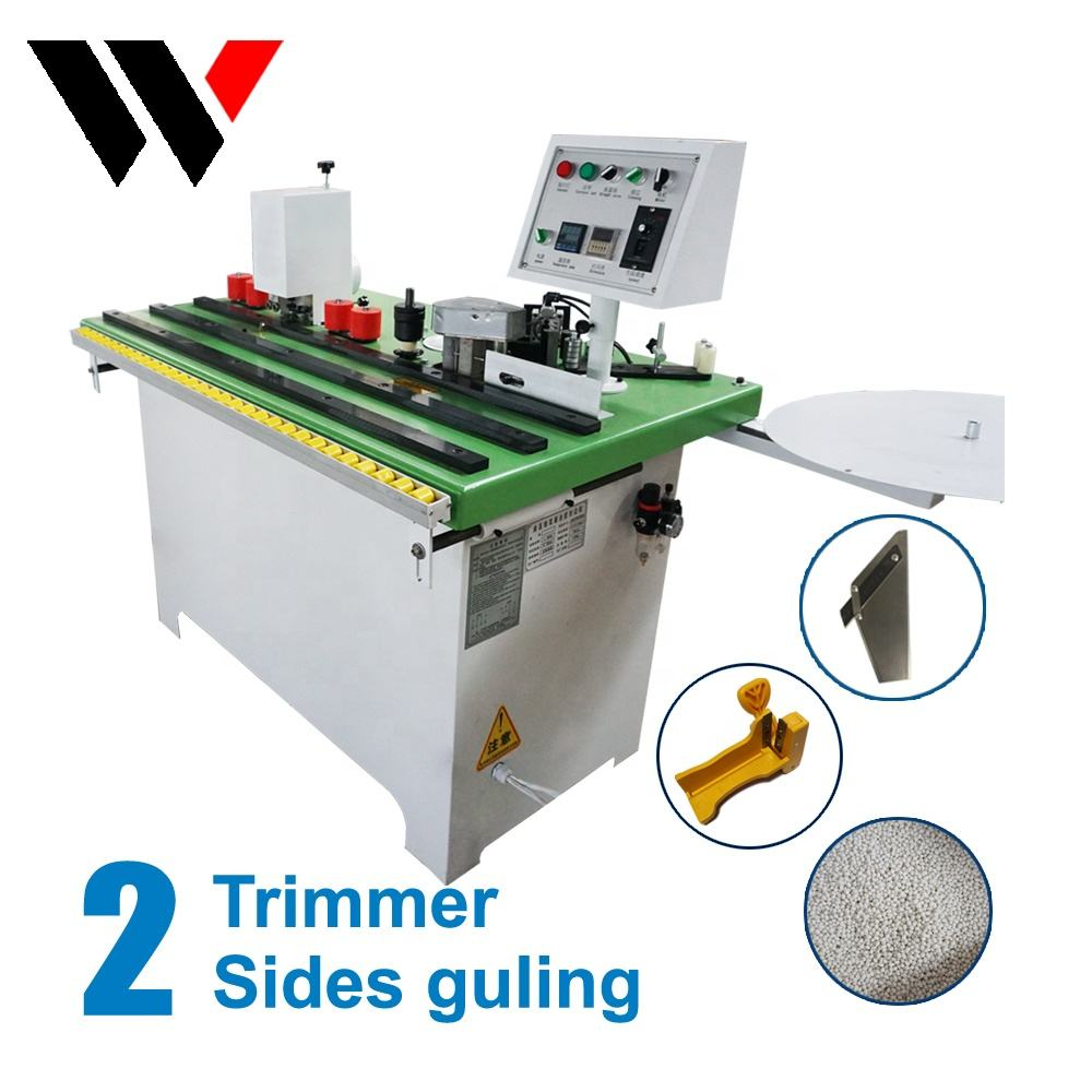 PVC Hand Held Small Double Curve Manual Edge bander Banding Machine With Trimmer