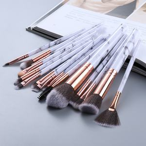 Free Sample 1pc Marble Pinceau Maquillage Cosmetic Brushes Make Up Makyaj Makeup Brushes Private Label Pincel Maquiagem