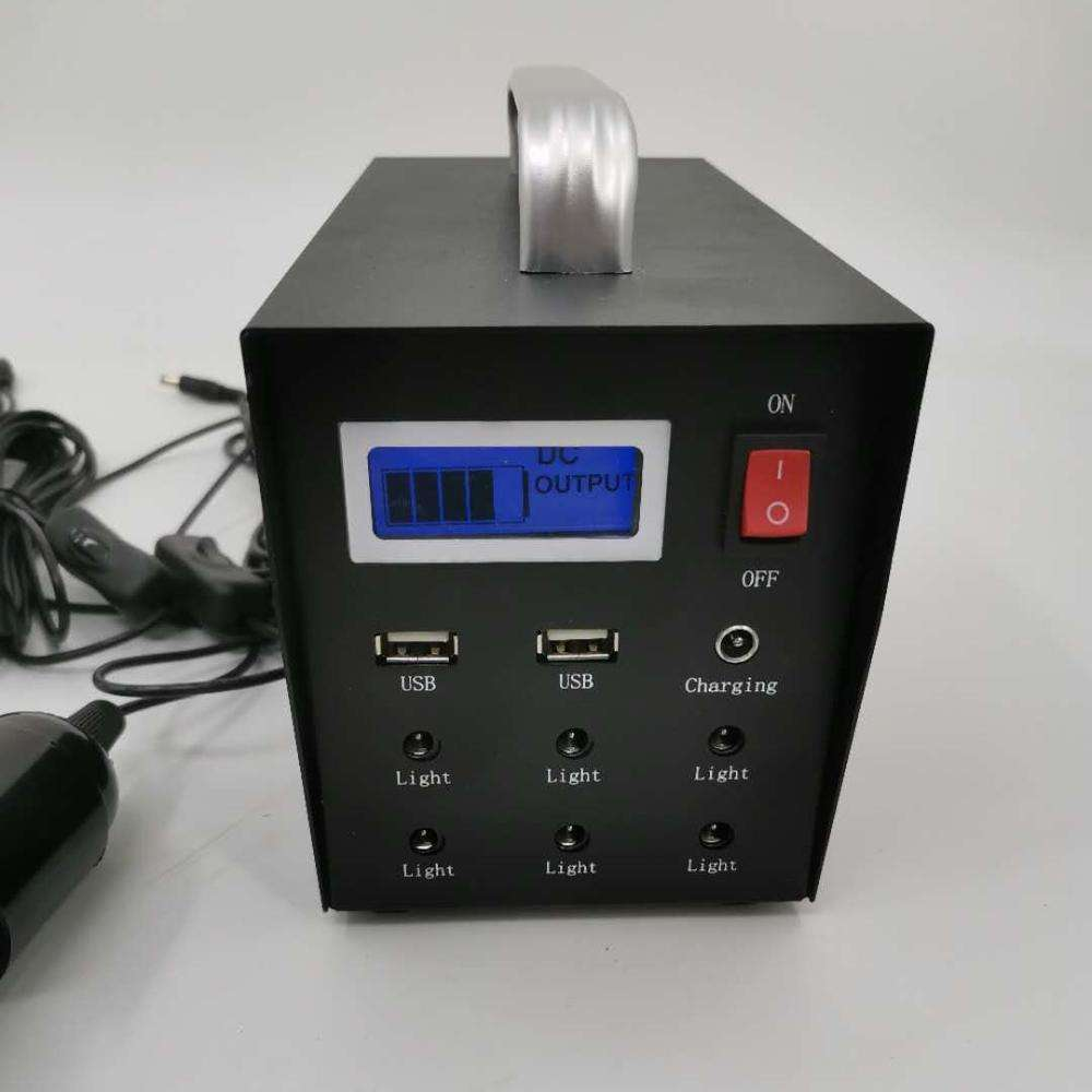 Free energy 10w 30w 500W lithium battery USB port solar generator