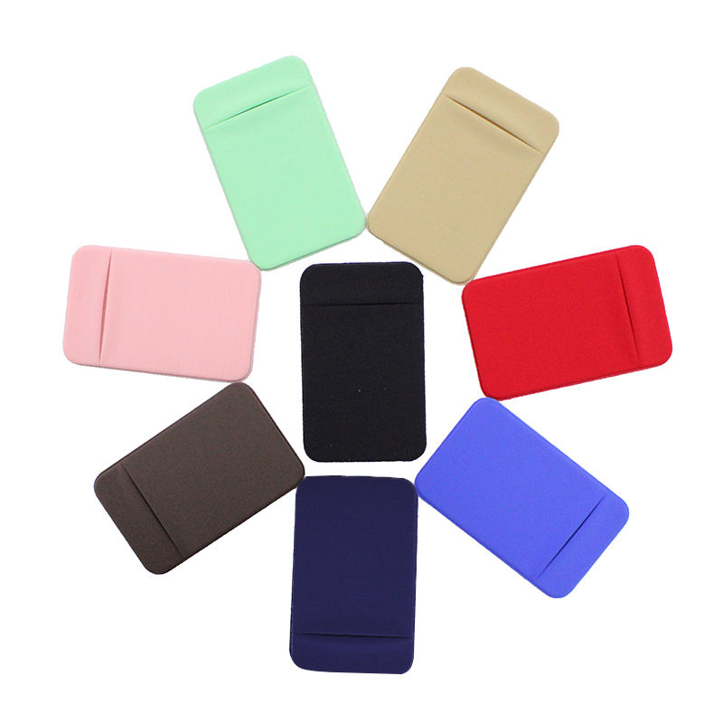 lycra card holder Wholesale Custom Cell Phone Credit Card Holder Stick On Wallet Card Pocket For All Phone