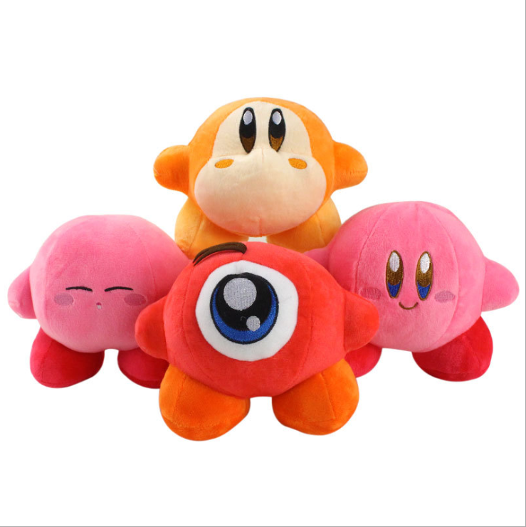 15cm Cute Peach Kirby Waddle Dee Waddle Doo Stuffed Peluche Plush Quality Cartoon Toy Great Christmas Birthday Gift For Children