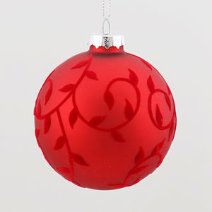2020 Shiny Red Glas Weihnachten Ball Ornament