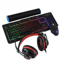 Beautiful led backlit wired keyboard mouse combo teclado y mouse gamer for gaming
