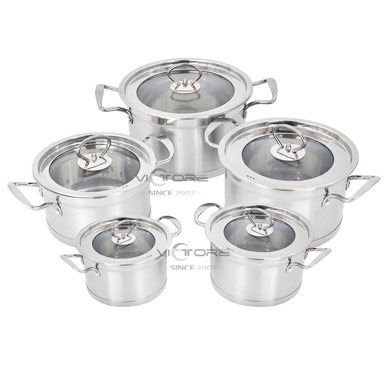 Prestige unique kitchen 10pcs stainless steel cookware sets pot