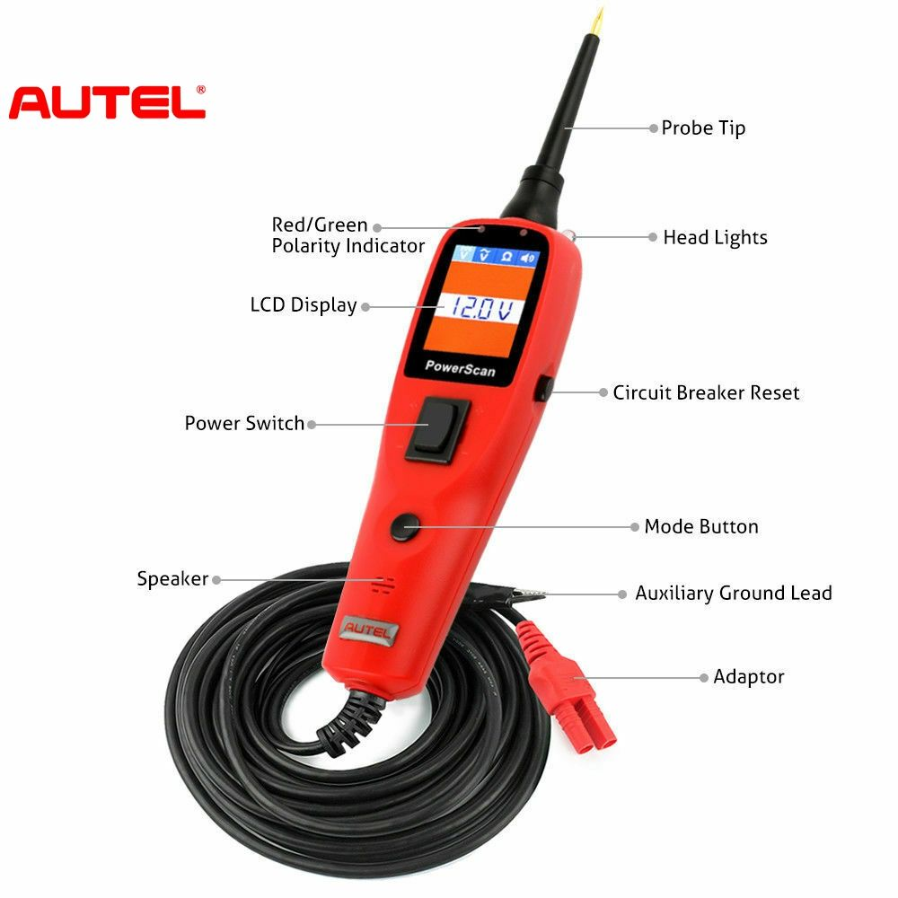 Factory price autel PowerScan ps100 automotriz probador de circuitos Electrical System Diagnostic Tool OBD2 Scanner Automotive