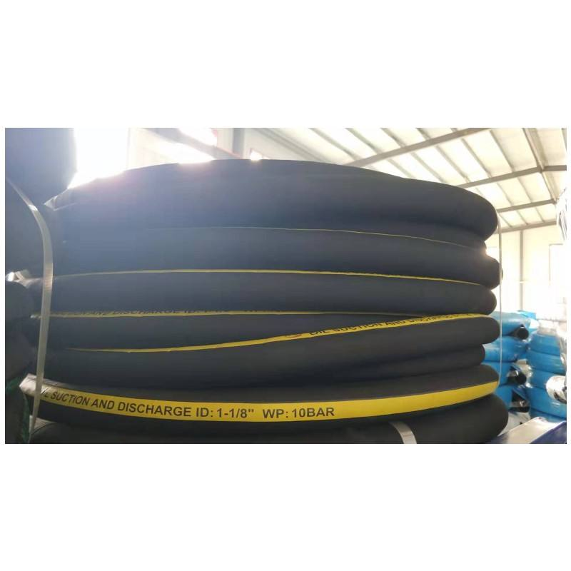 304mm *60m 10bar Nitrile tank truck black fuel & diesel oil rubber hose pipe for suction & discharge