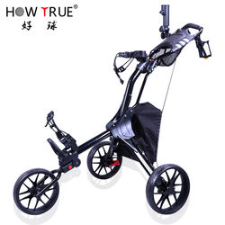 Manuta cture price golf push pull trolley small folding golf trolley