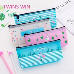 2019 Wholesale school supplies cute pen bag  Cartoon  flamingo children pen case small pencil case kawaii 976