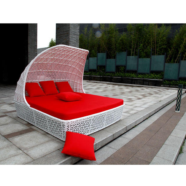 2020 round rattan furniture outdoor bed outdoor swing sun lounger