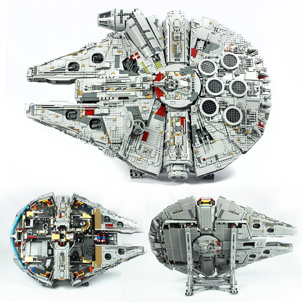 Ultimate Collector 8445pcs Max Millenniumlys Falcon 75192 Building Blocks Assemble Brick set