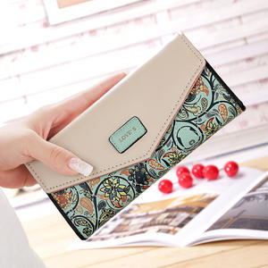 Broken flower Envelope Wallet Women Brand Designer Female Wallet Card Holder Phone Coin Pocket Ladies Purse High Quality